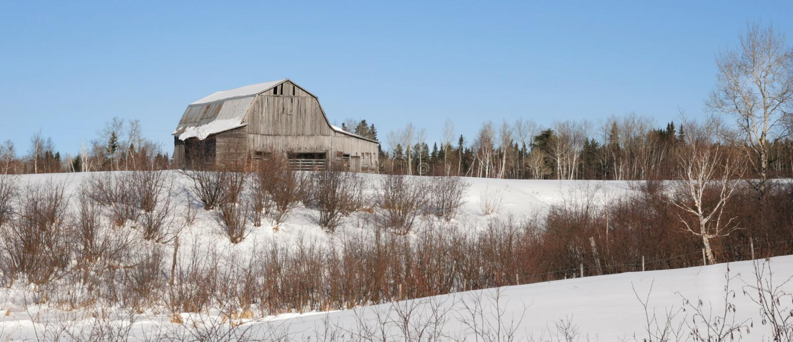 Download Barn in winter stock image. Image of landscape, winter - 23052791
