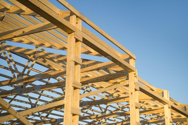 Barn wood framing stock image