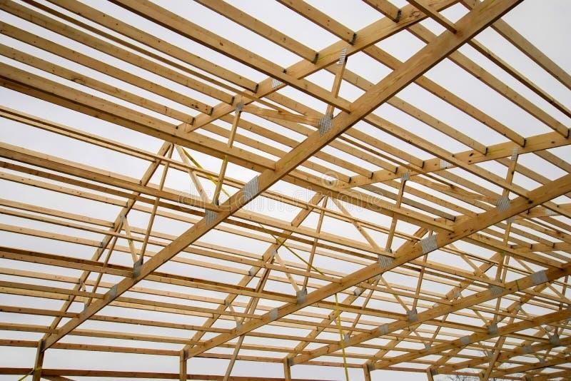 Barn wood framing stock photo