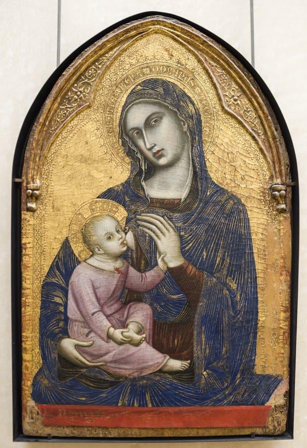 Barnaba Da Modena den forntida barnsymbolsryssen silhouettes vektoroskuld Vers 1370-1375 luftventil arkivbild