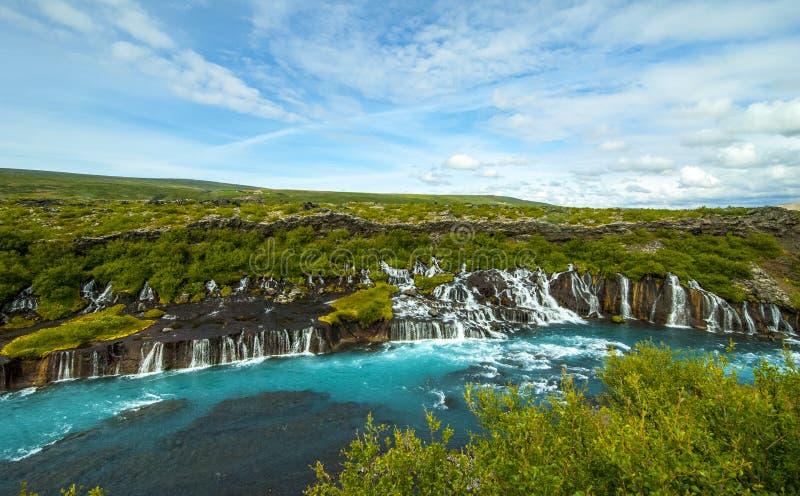 Barnafoss-Wasserfall lizenzfreies stockfoto