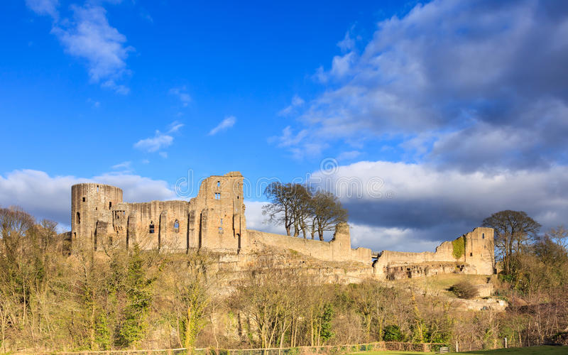 Barnard Castle. Is a ruined medieval castle in County Durham, northern England in the town of the same name royalty free stock photo