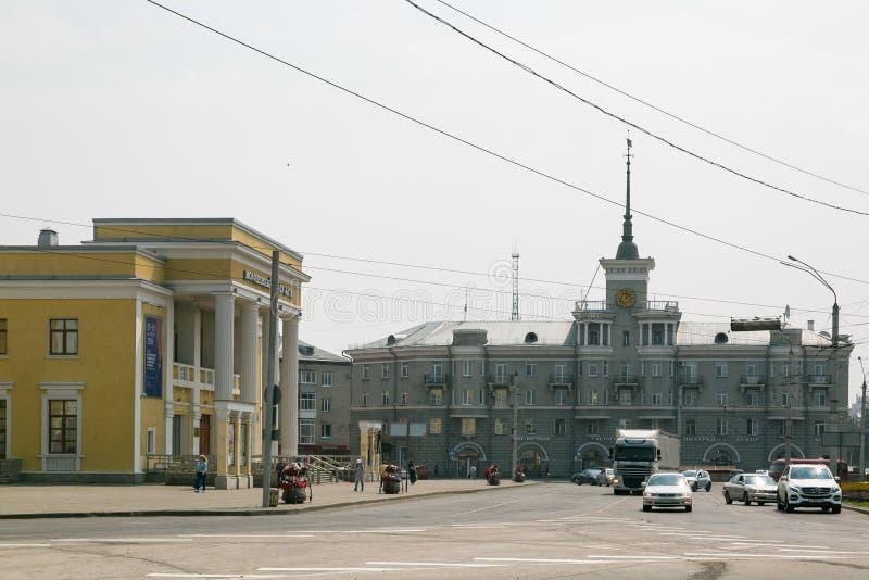 BARNAUL, RUSSIA, 07 19 Città Vecchia 2018 in Siberia russa editoriale immagine stock