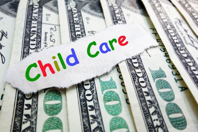 Barnavårdkostnad royaltyfri fotografi