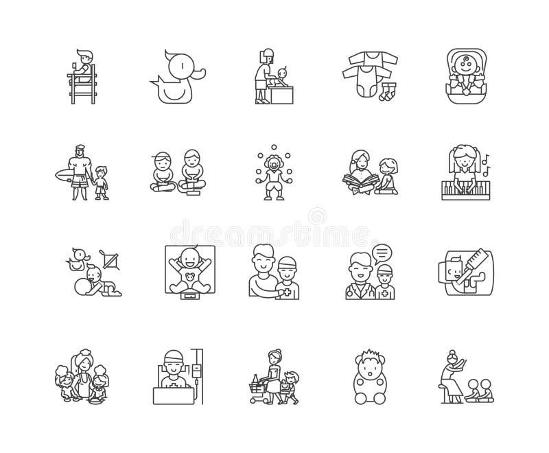 Barnav vektor illustrationer