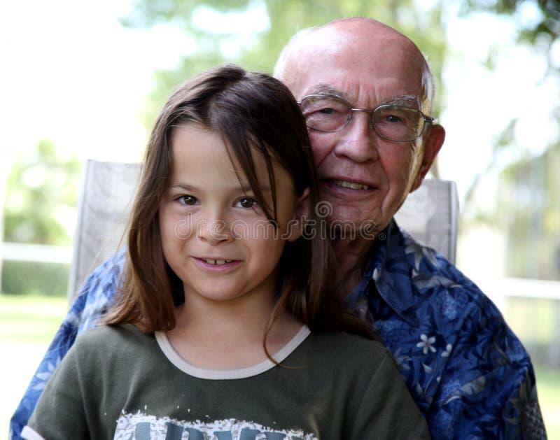 barnbarnfarfar royaltyfri foto