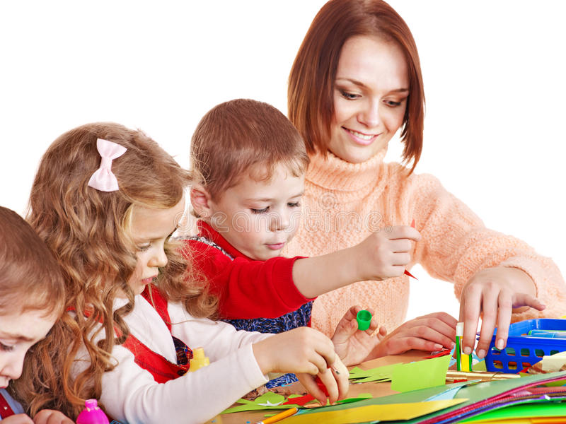 barndagislärare royaltyfria bilder