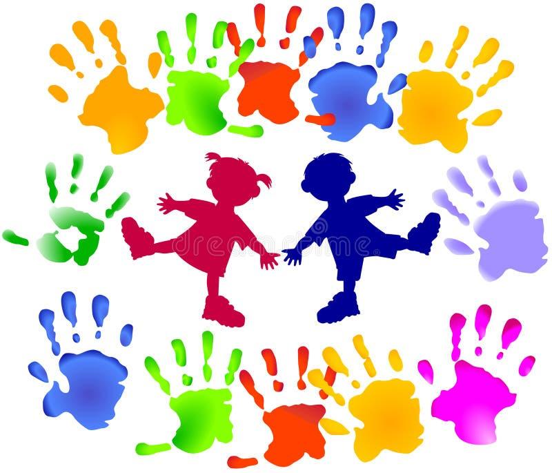 barndeltagarebarn royaltyfri illustrationer