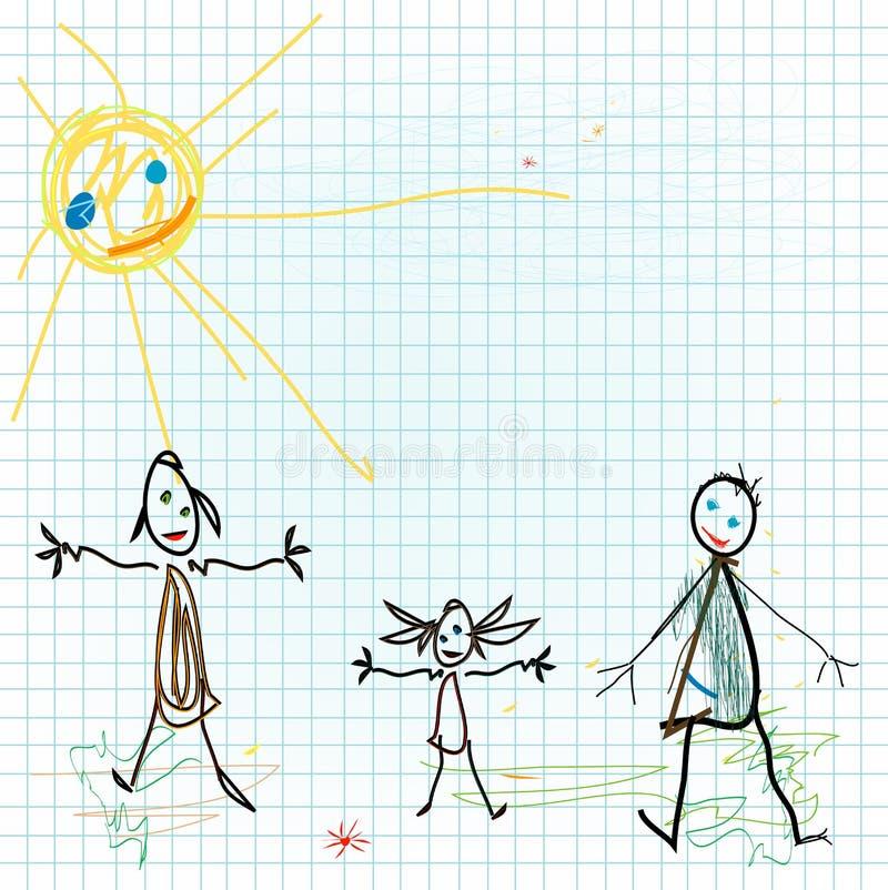 barndesignen like vektor illustrationer
