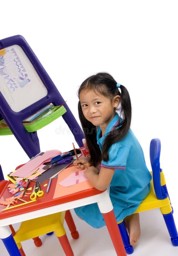 barndommålning arkivfoto