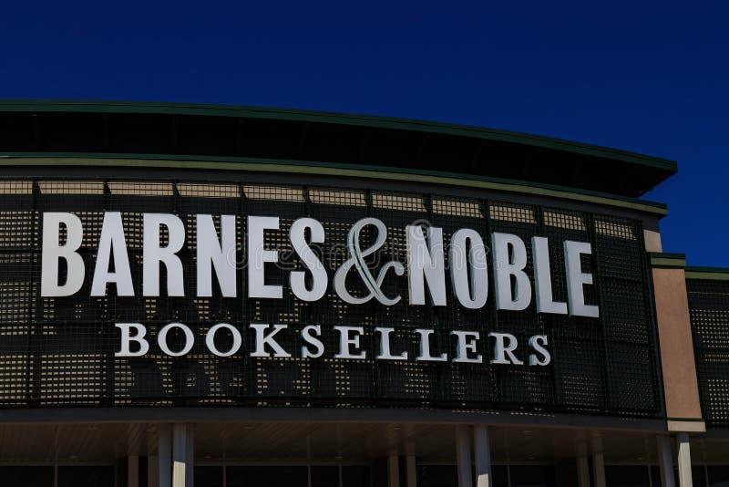 Barnes & Noble-de Boekhandelaars ondertekenen stock foto's