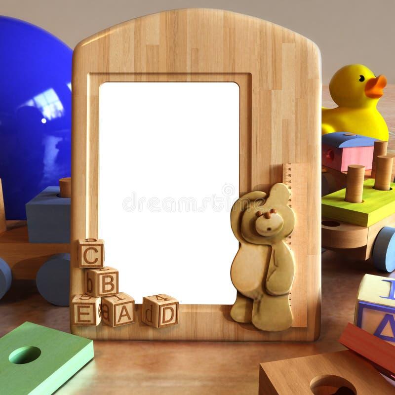 Barnet föreställer inramar plats royaltyfri illustrationer