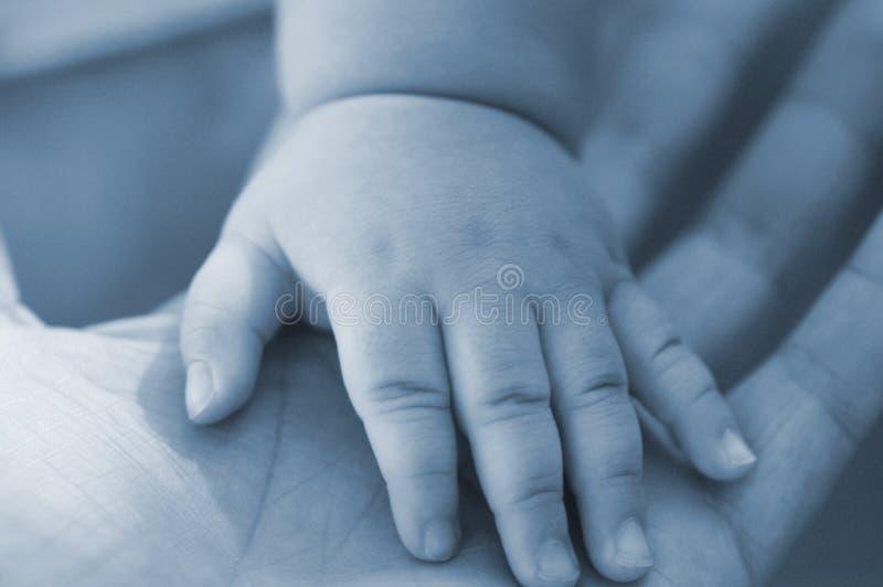 barnet gömma i handflatan s royaltyfri bild