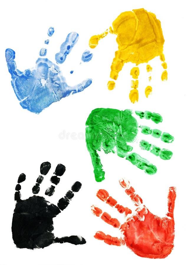 barnet hands tryck vektor illustrationer