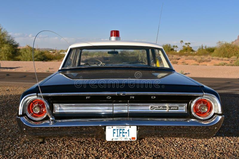 Barney Fife Deputy Ford Car foto de archivo