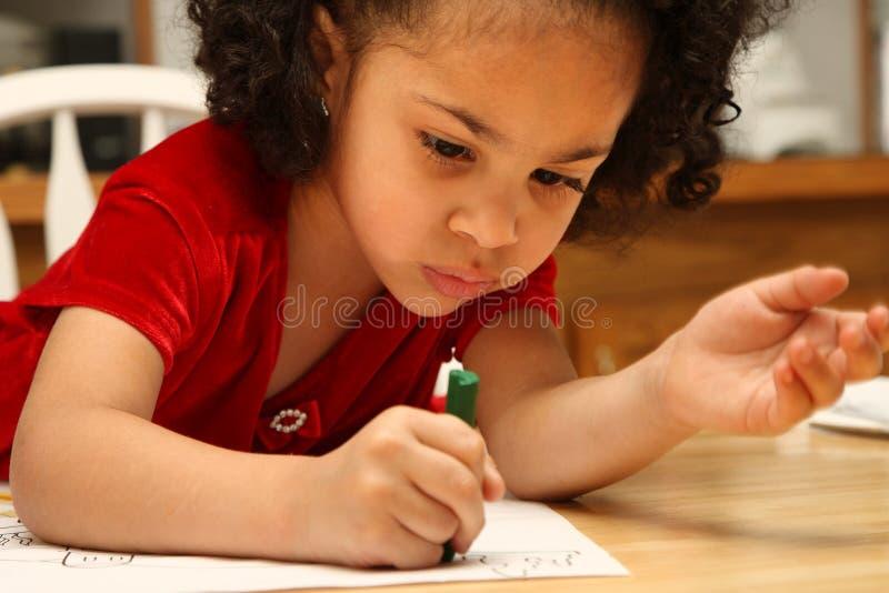 barnfärgläggning arkivfoto