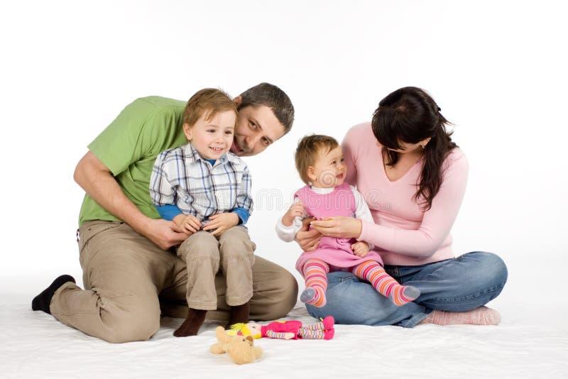 barnfamilj två royaltyfria bilder