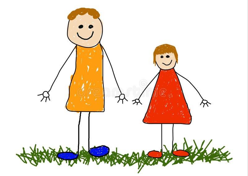 barnfarsa stock illustrationer