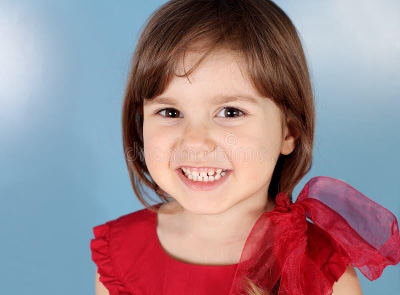 barnflicka little le för stående royaltyfri fotografi