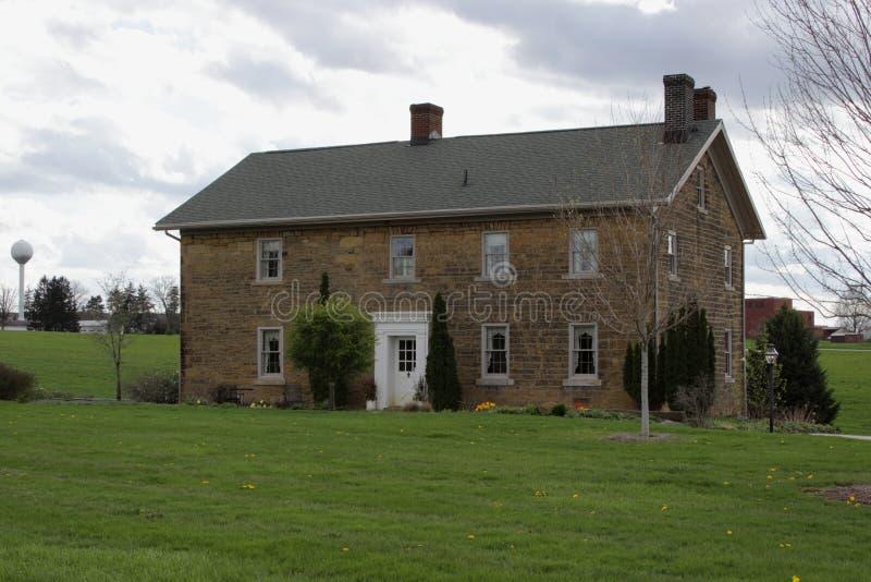 Barnhart Rice Homestead Stone House stock photo