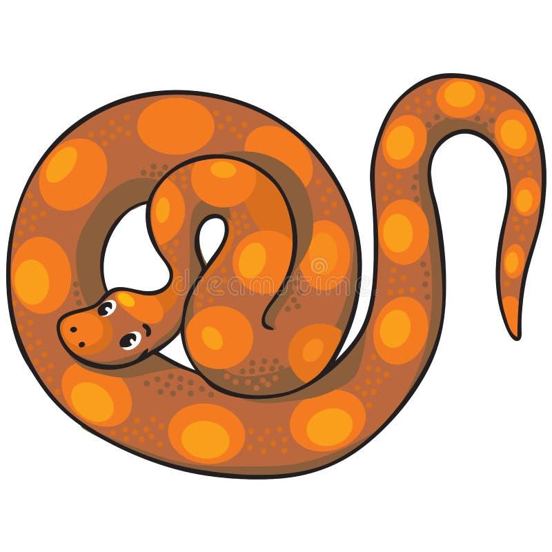 Barnillustration av ormen stock illustrationer