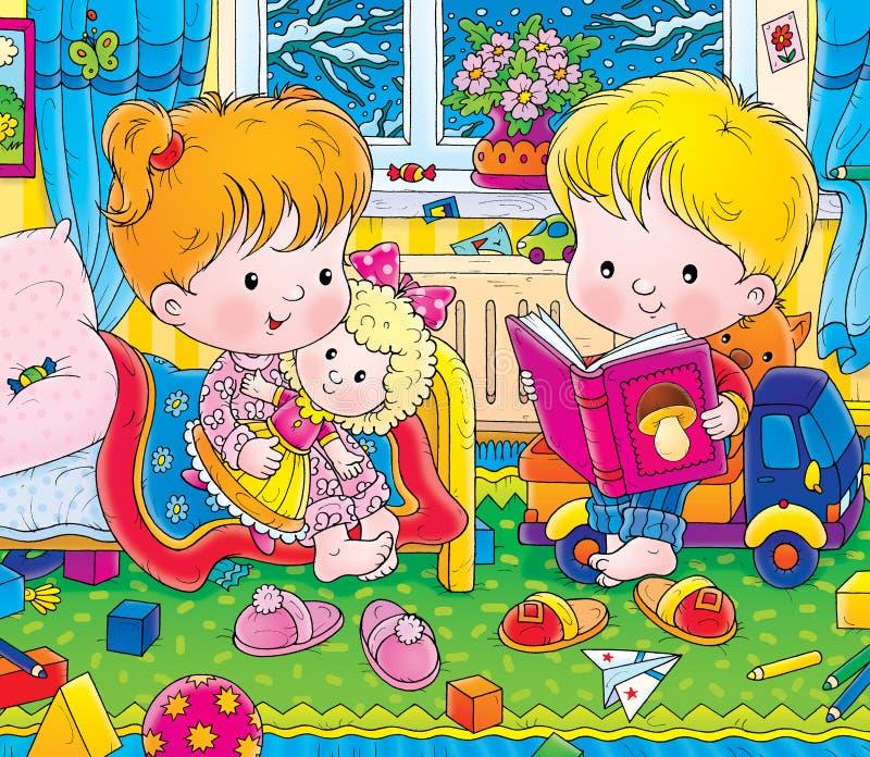 barnkammare royaltyfri illustrationer
