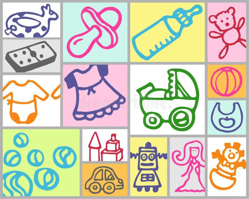 barnkammaretoys stock illustrationer