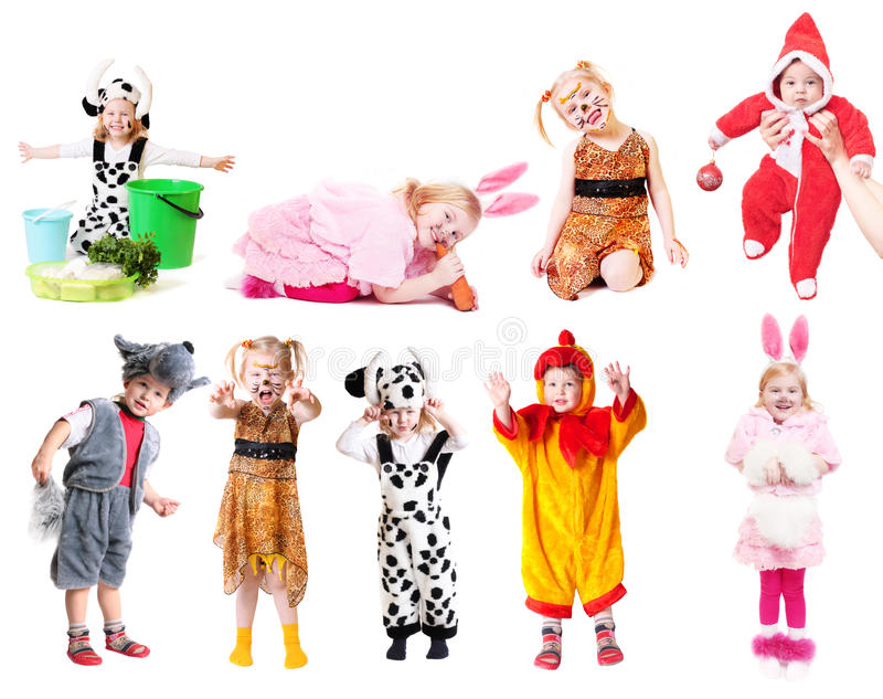 barnklänninginfall royaltyfria bilder