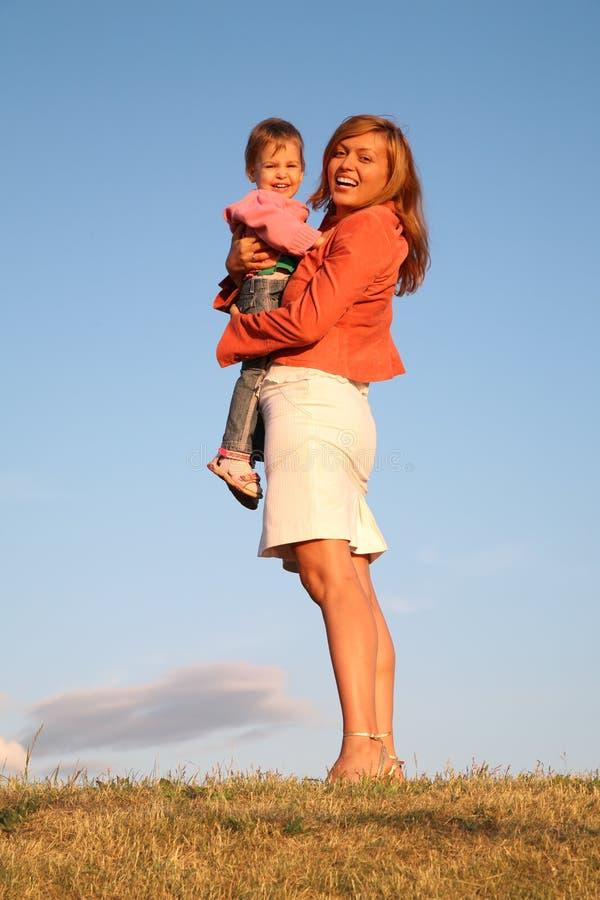 barnkvinna royaltyfria foton