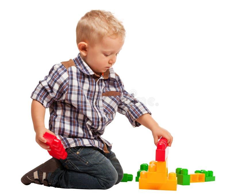 Barnlek med konstruktion royaltyfri foto