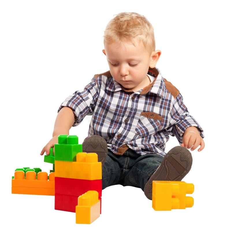 Barnlek med konstruktion arkivbilder