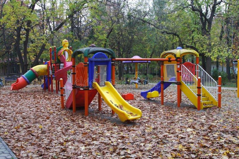 Barnlekplats arkivbilder