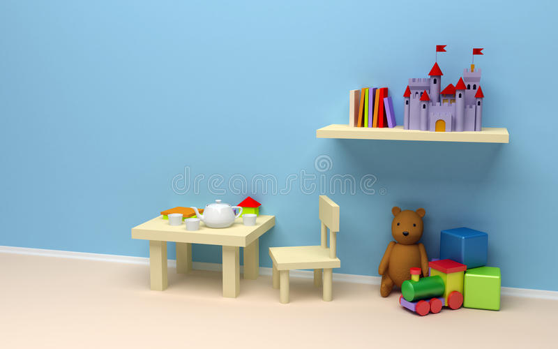 barnlokal vektor illustrationer