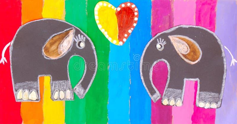 barnmålning royaltyfri illustrationer