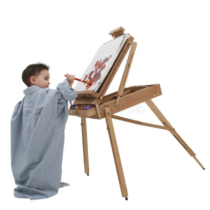 barnmålning för 01 pojke royaltyfri fotografi