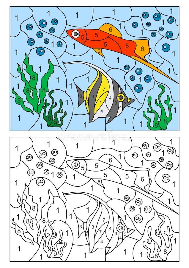 Barnmosaikkort vektor illustrationer