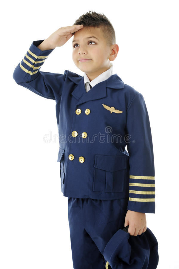 Barnpilot Giving Honor arkivfoton
