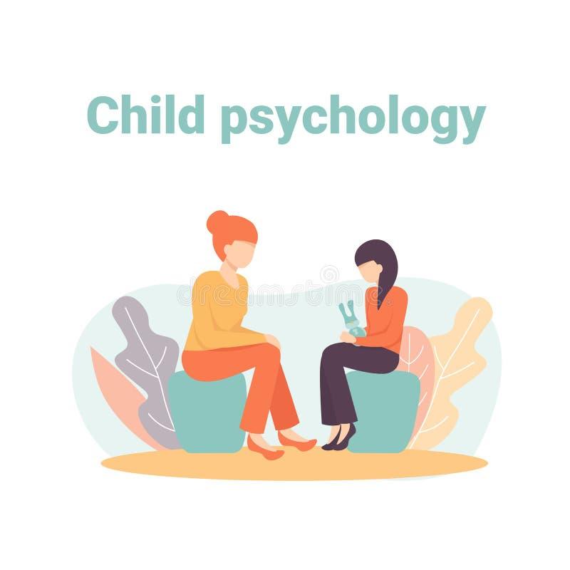 Barnpsykologi, konsulterande period arkivbild