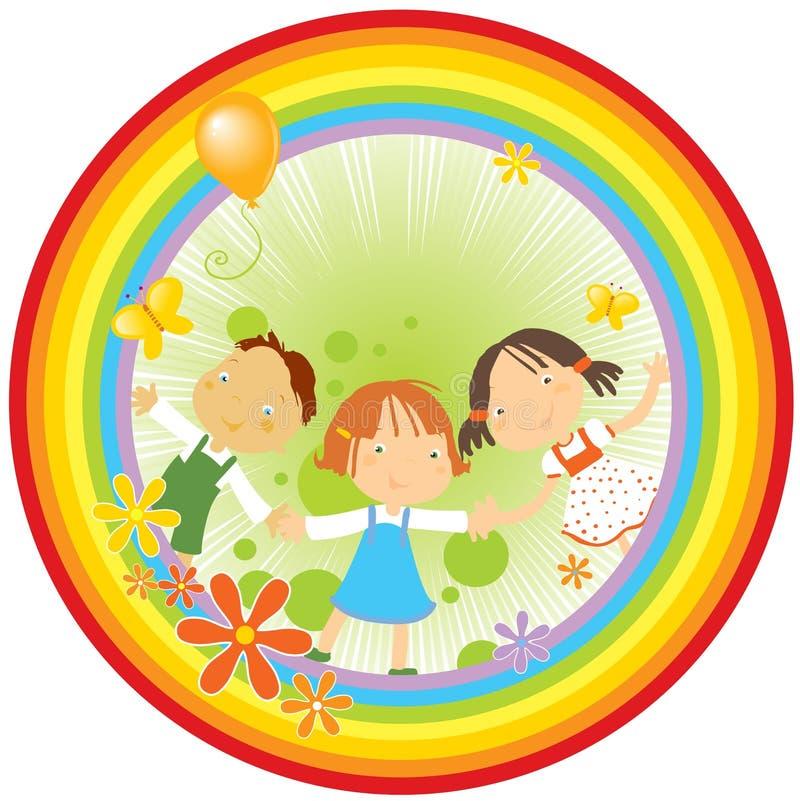 barnregnbåge stock illustrationer