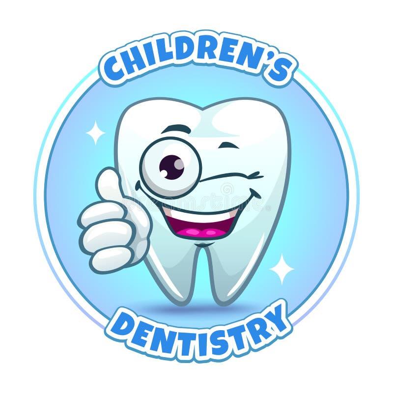 Barns beståndsdel för logo för företag för tandläkekonst vektor illustrationer
