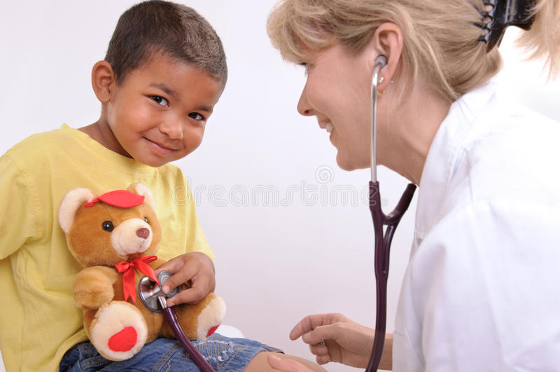barns doktor royaltyfri bild