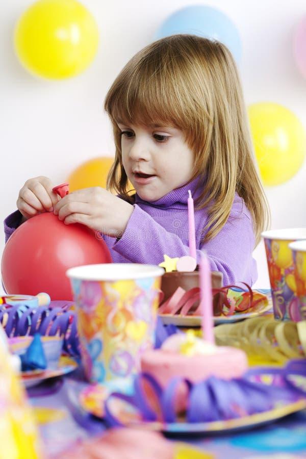 Barns födelsedag royaltyfria bilder