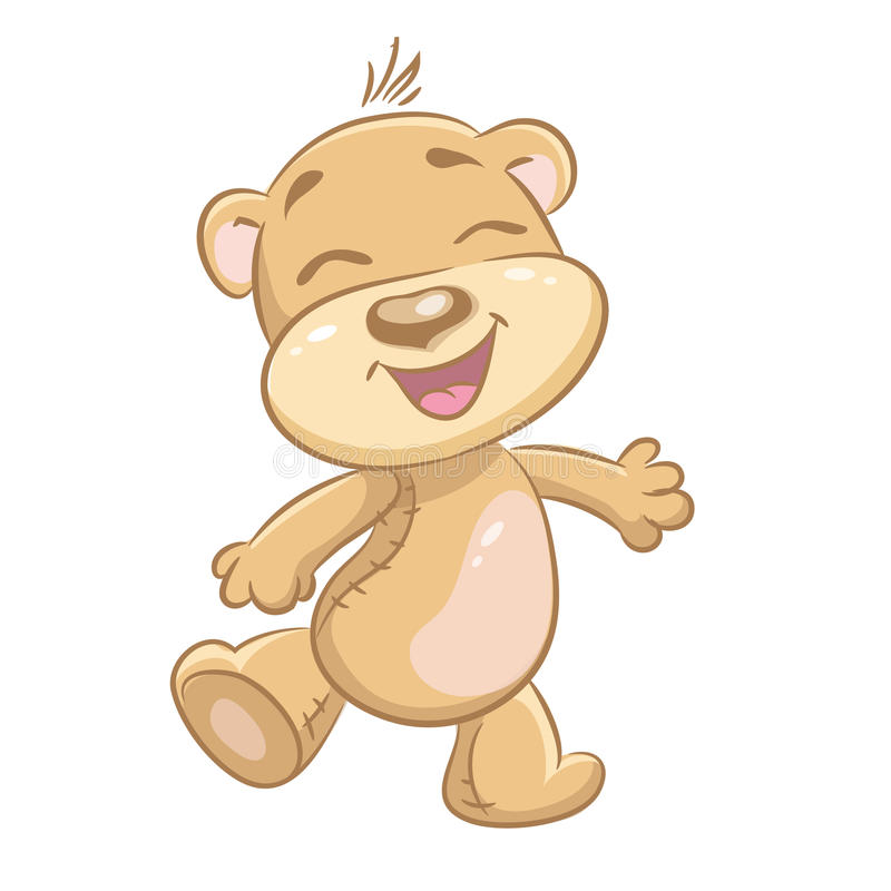 Barns glade björnar för illustration vektor illustrationer