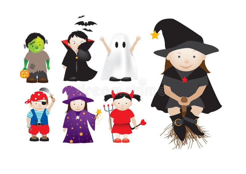 barns infall för klänningdressing upp stock illustrationer
