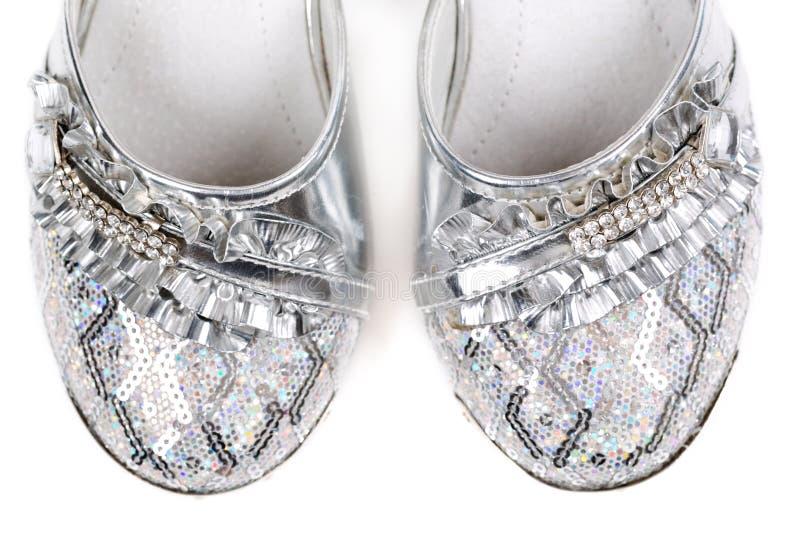Barns infall shoes närbild. royaltyfria foton