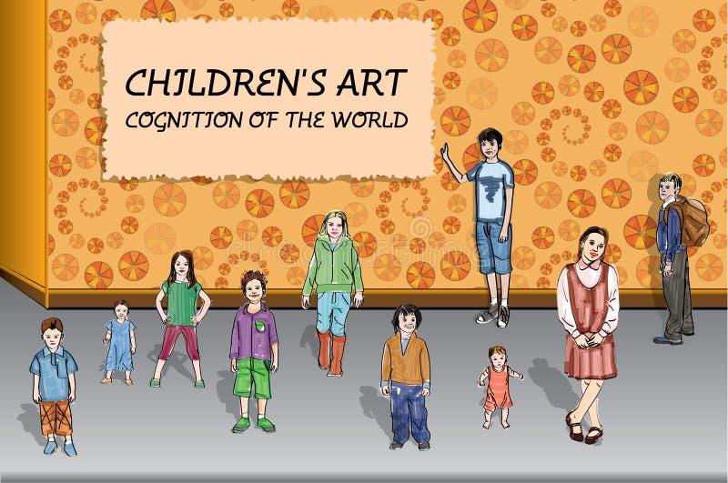 Barns konst stock illustrationer