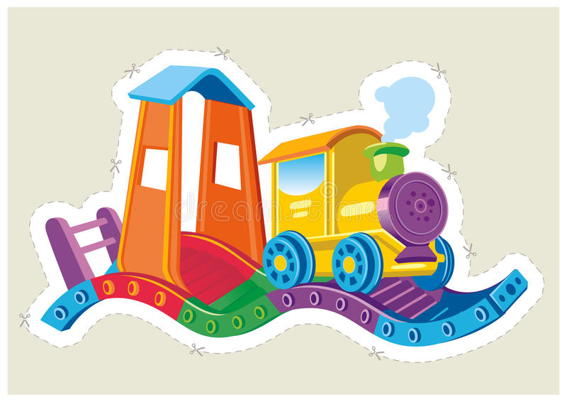 Download Barns Lokomotiv För Leksakånga. Vektor Illustrationer - Illustration av järnväg, intresse: 37346805