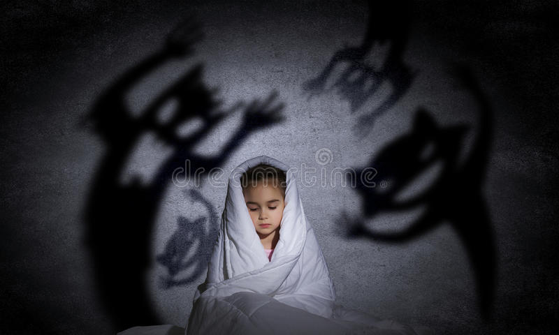 Barns mardröm fotografering för bildbyråer