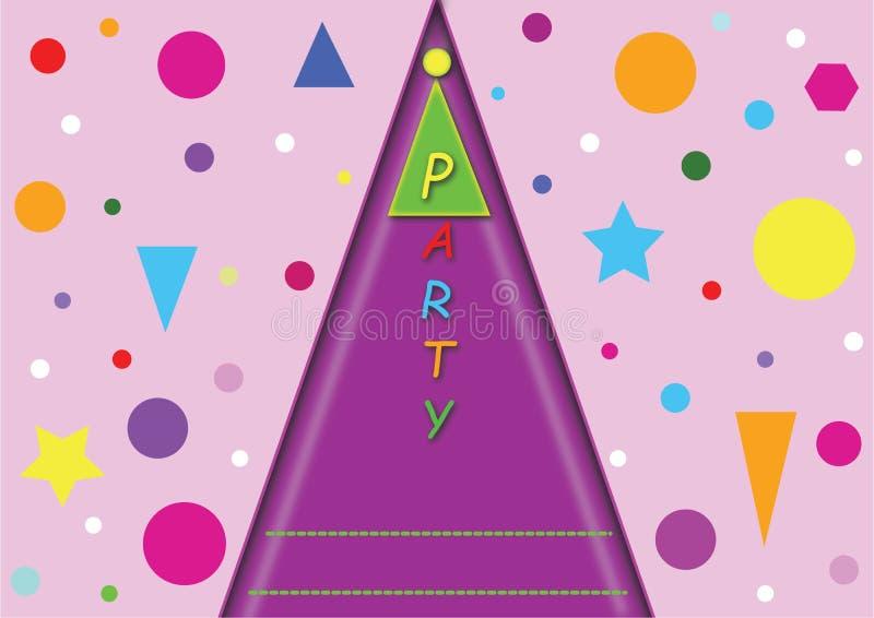 Barns partikort vektor illustrationer