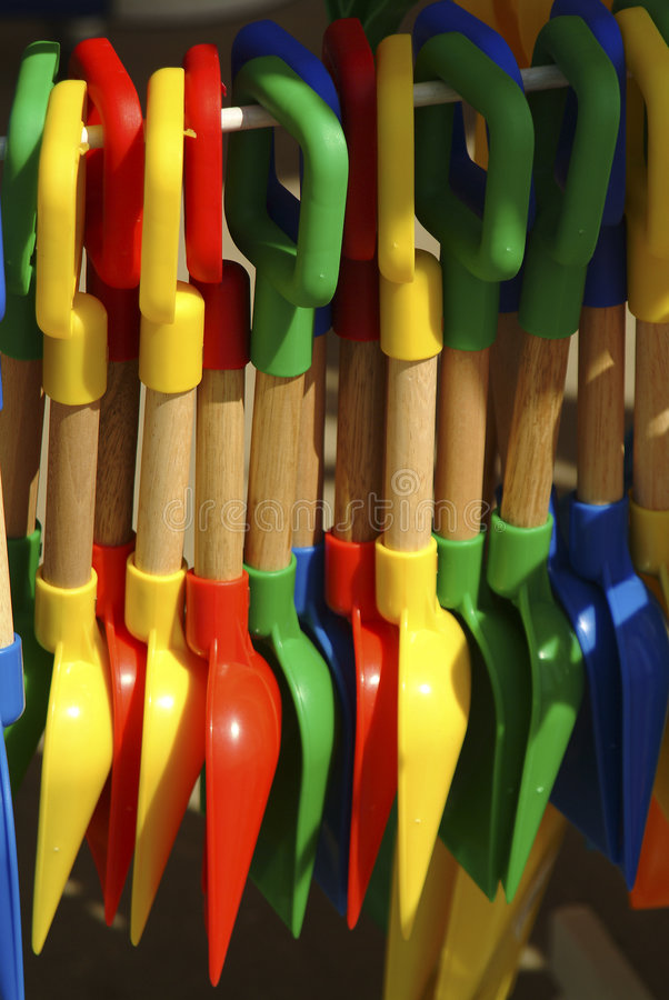barns plastic spadetoy royaltyfria foton